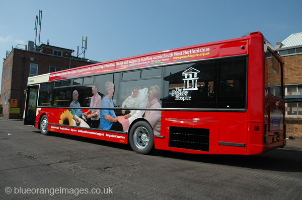 Peace Hospice bus livery