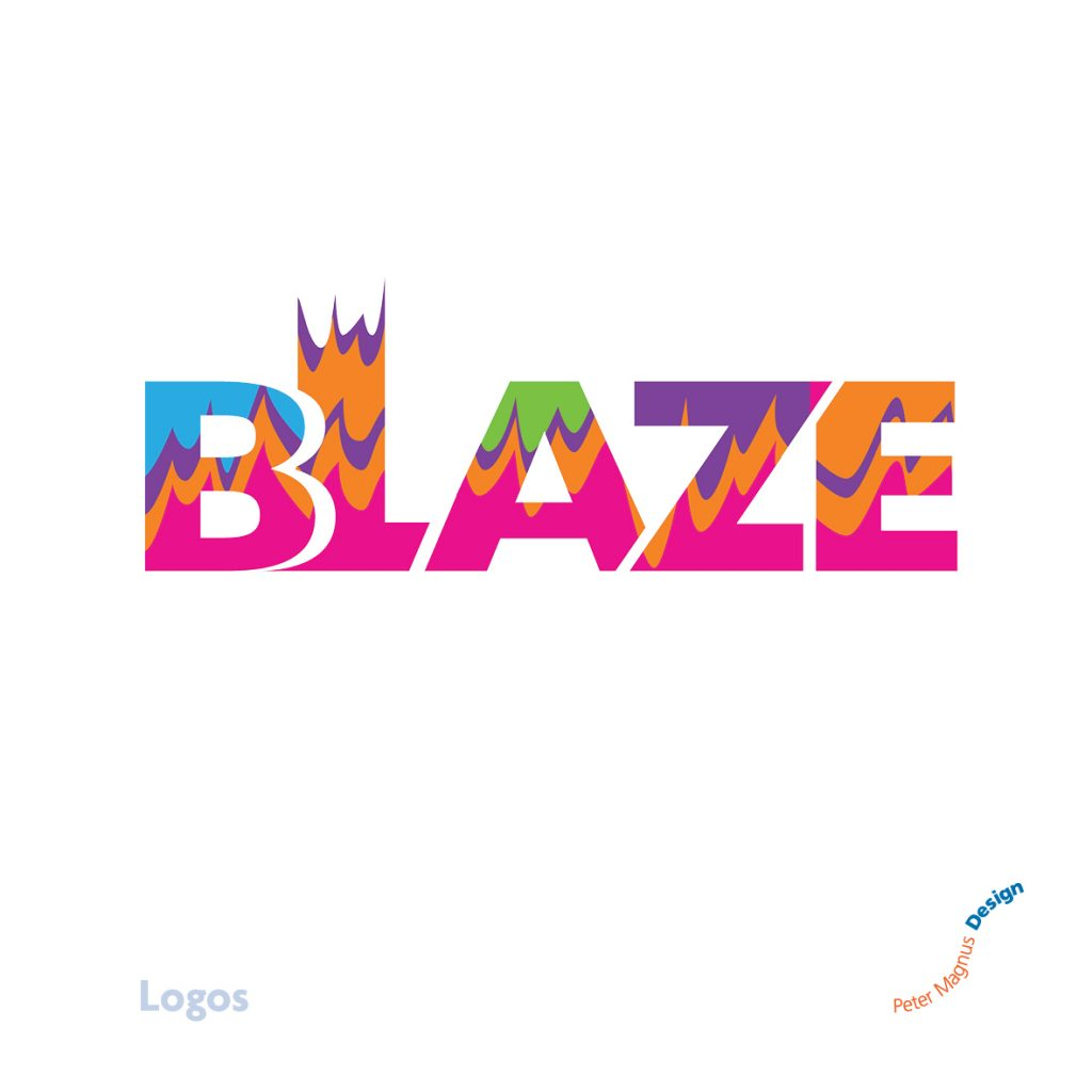 Blaze youth club, Bushey Baptist Church logo
