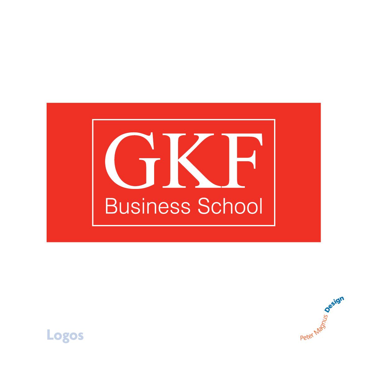 GKF Business School logo, Watford, Herts