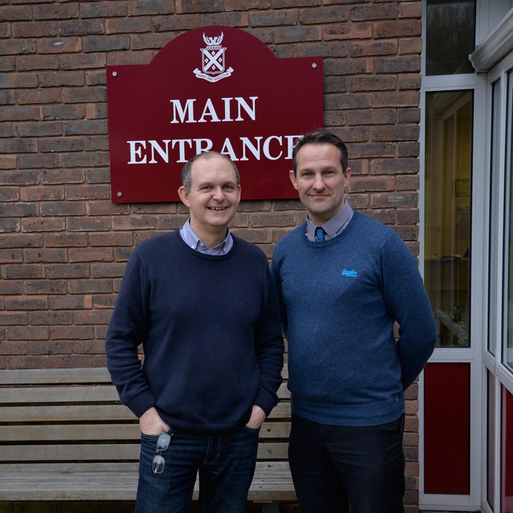 John Williamson - Peter Mangus Design visiting Parmiters School, Watford