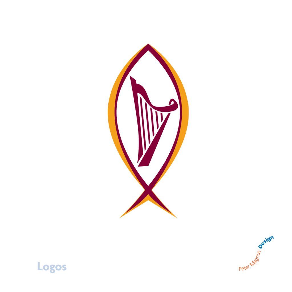Lynne Watkins harpist logo, Abbots Langley