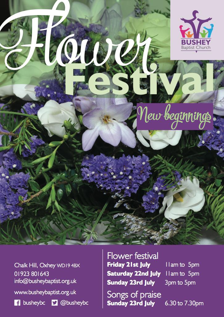 Bushey Baptist Church – flower festival poster