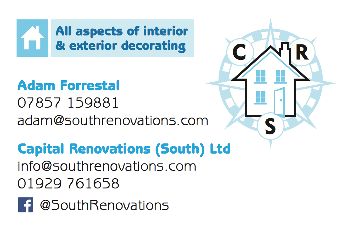 Capital Renovations (South) Ltd business card design