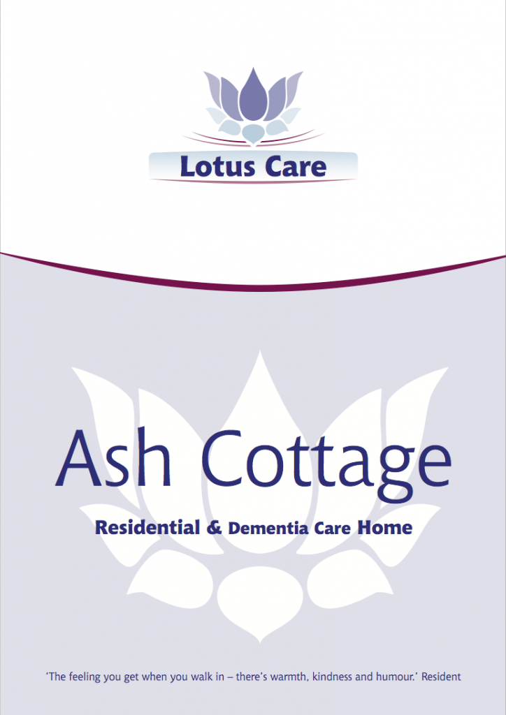 Lotus Care brochure cover design