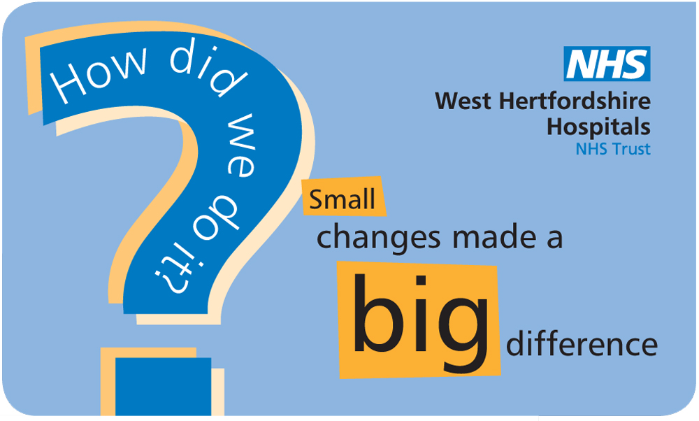 Design by Peter Magnus Design for CQC improvement graphic, Watford General Hospital