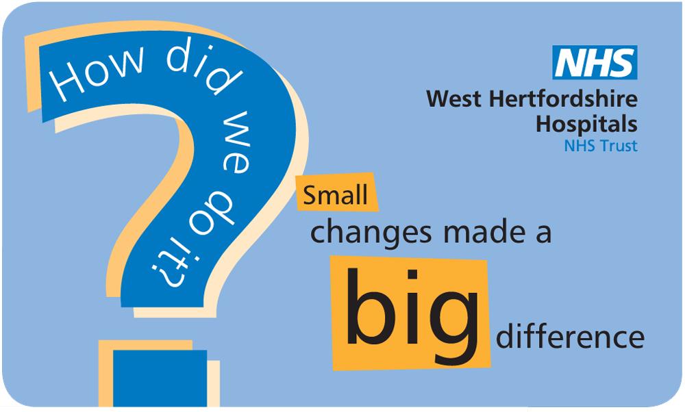 Design by Peter Magnus Design for CQC improvement graphic, Watford General Hospital