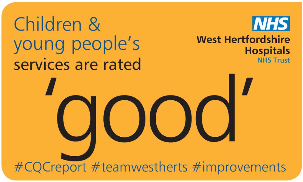 WHHT CQC improvement graphic, Watford General Hospital