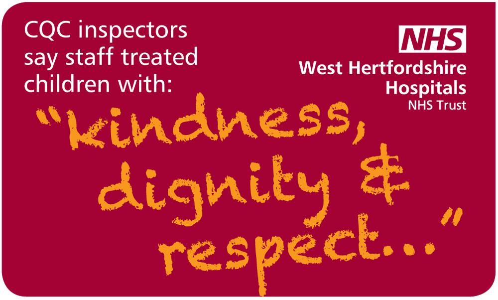 Design for a set of social media graphics for WHHT (West Hertfordshire Hospitals NHS Trust)