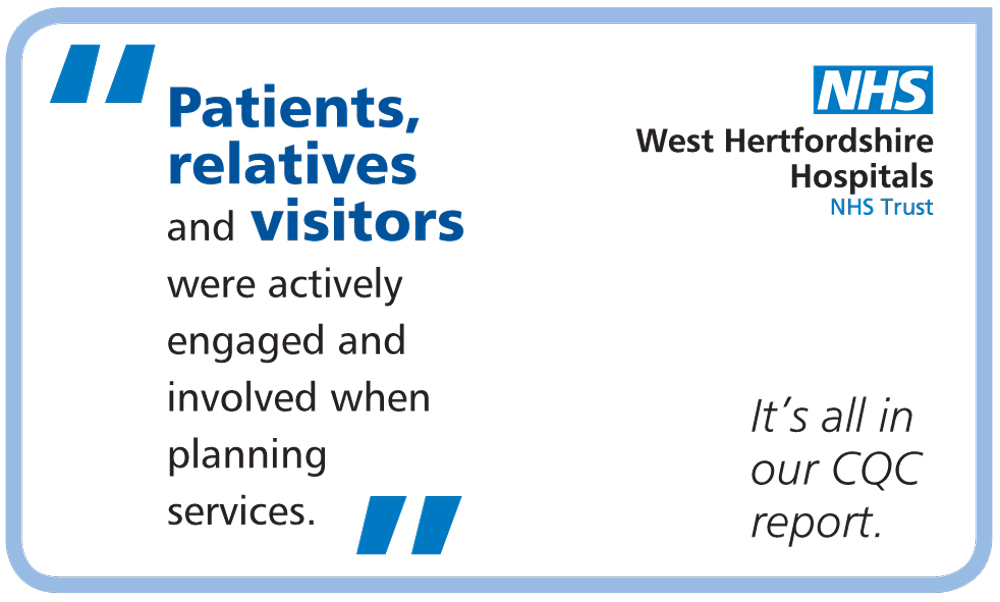 WHHT (West Hertfordshire Hospitals Trust) CQC inspection graphics