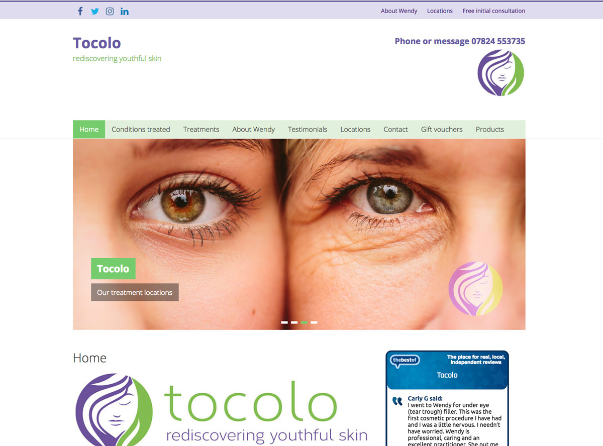 Tocolo website, Abbots Langley, Herts