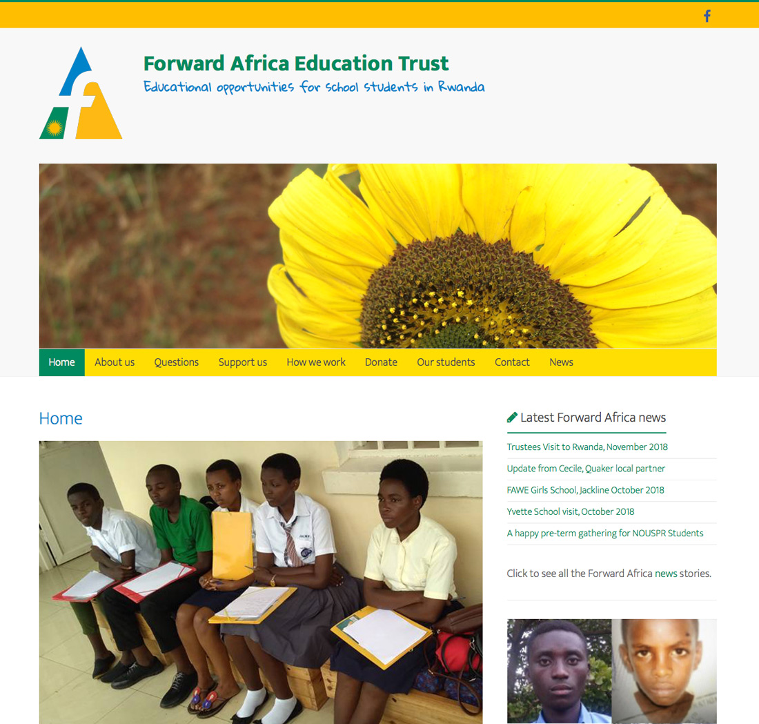 Forward Africa Education Trust – Peter Magnus Design charity website design