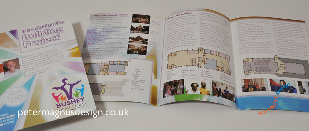 Charity fundraising graphic design in Watford, Herts