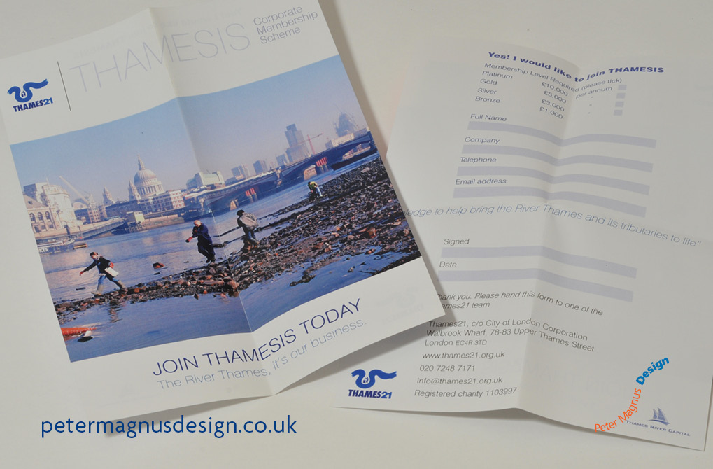 Graphic design for fund raising campaigns in London