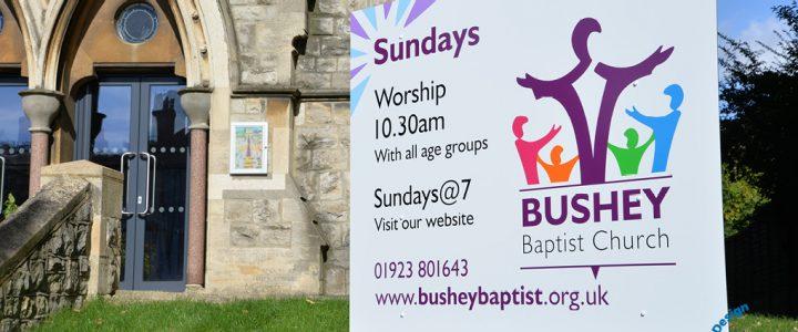church building signs bushey herts