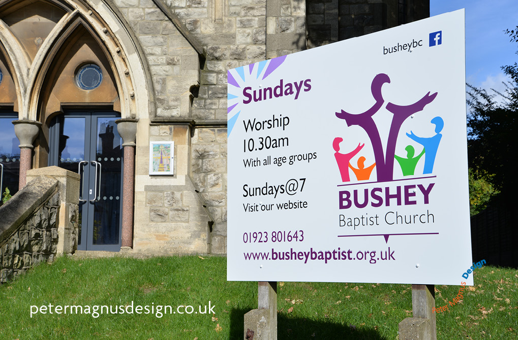 church building signs bushey herts
