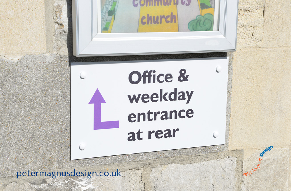 Church building signs Bushey, Herts