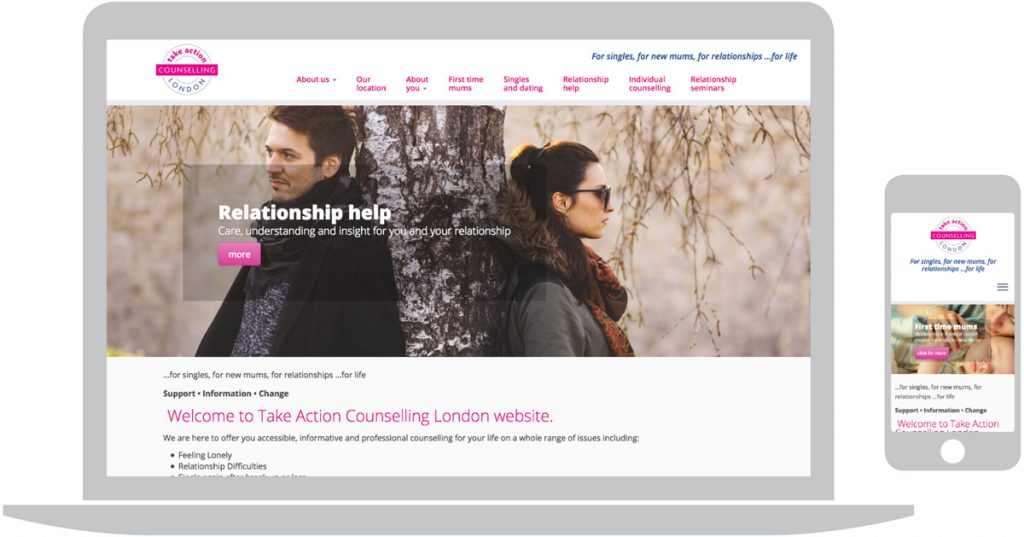 Take Action Counselling. Peter Magnus Design – website design for business