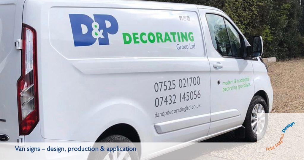 Van signs in Watford, Herts, Peter Magnus Design