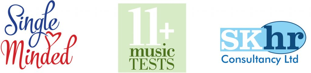 Logos for Single Minded, 11 Plus Music Tests SKHR Consultancy Ltd, Watford, Herts