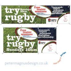 Watford Rugby Club graphic design – Peter Magnus Design, Watford, Herts
