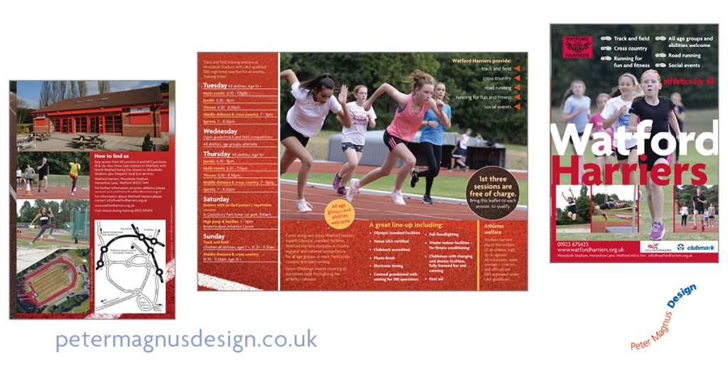Watford Harriers sports clubs graphics – Peter Magnus Design – 014