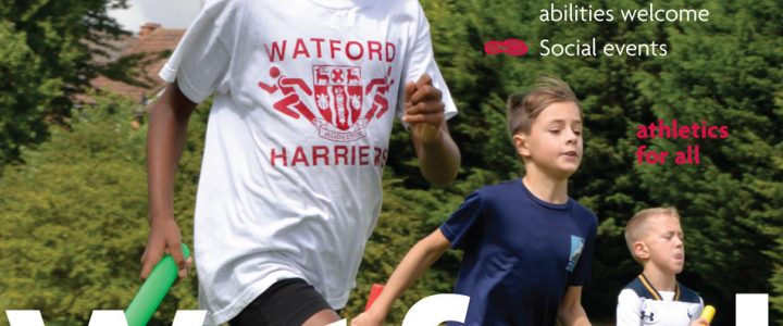 Watford Harriers sports clubs graphics poster & flyer – Peter Magnus Design